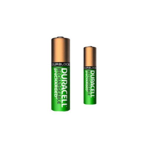 Duracell PreCharged BUN0044A - Battery 4 x AA type NiMH ( rechargeable ) - with 4 x AAA NiMH rechargeable batteries