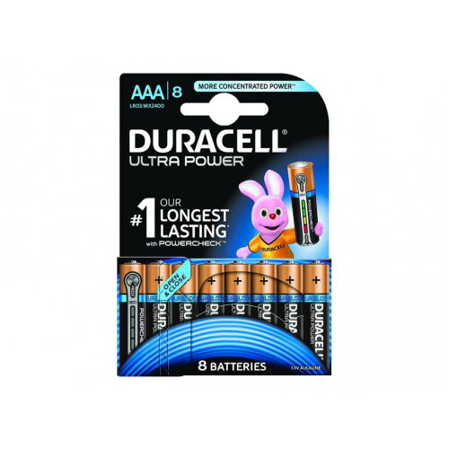 Duracell Ultra Power MX2400B8 - Battery 8 x AAA type - Alkaline