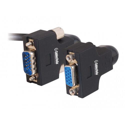 C2G VGA270 UXGA Monitor Extension Cable - VGA extension cable - HD-15 (M) to HD-15 (F) - 15 m - thumbscrews