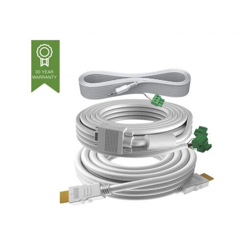 VISION Techconnect 3 - Video / audio cable kit - 15 m - white