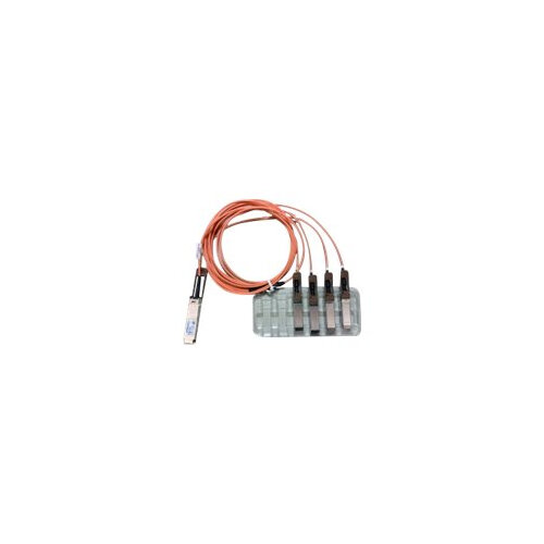 Cisco Direct-Attach Active Optical Cable - Network cable - QSFP (M) to SFP+ (M) - 1 m - active - beige - for Nexus 31XX, 56128, 93XX, 93XXX, X97160, X9736; ONE Nexus 31108, 32XX, 56XX, 92XX, 93XXX