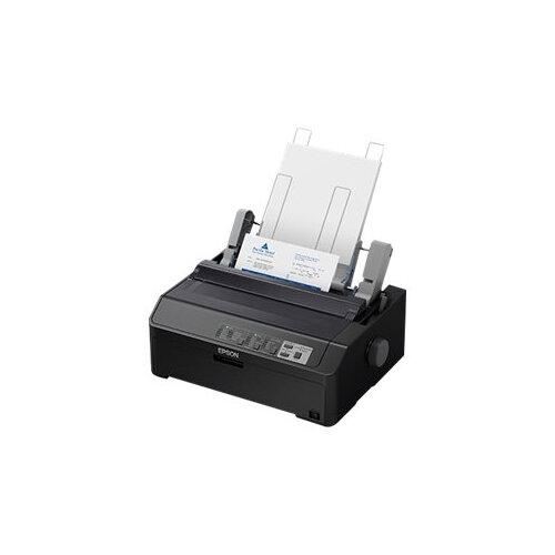Epson LQ 590IIN - Printer - monochrome - dot-matrix - Roll (21.6 cm), JIS B4, 254 mm (width) - 360 x 180 dpi - 24 pin - up to 584 char/sec - parallel, USB 2.0, LAN, serial