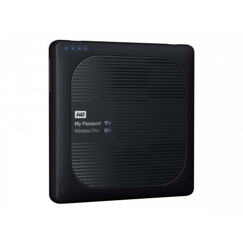 WD My Passport Wireless Pro WDBVPL0010BBK - Network drive - 1 TB - HDD 1 TB x 1 - RAM 512 MB - USB 3.0 / 802.11ac