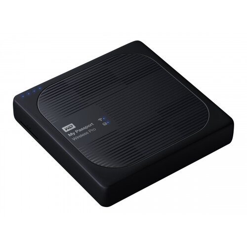 WD My Passport Wireless Pro WDBSMT0040BBK - Network drive - 4 TB - HDD 4 TB x 1 - USB 3.0 / 802.11ac