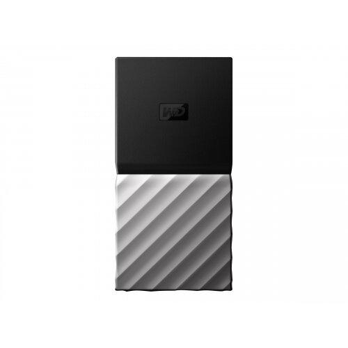 WD My Passport SSD WDBKVX0020PSL - Solid state drive - encrypted - 2 TB - external (portable) - USB 3.1 Gen 2 (USB-C connector) - 256-bit AES - black top with gunmetal (medium metallic grey) bottom