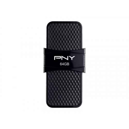 PNY Duo-Link On-the-Go - USB flash drive - 64 GB - USB 3.1 / micro USB