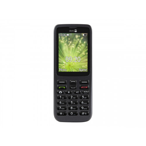 Doro 5516 - Mobile phone - 3G - microSDHC slot - GSM - 320 x 240 pixels - 2 MP - black