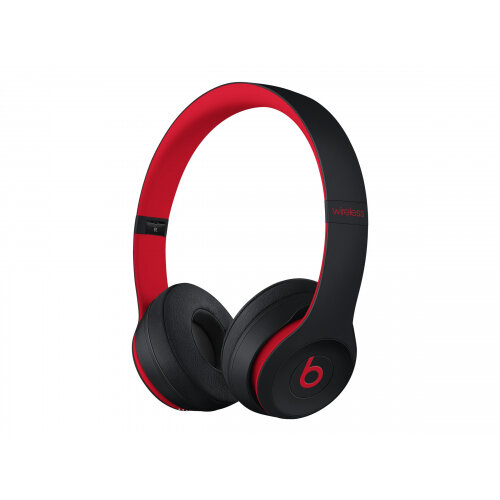 Beats Solo3 - The Beats Decade Collection - headphones with mic - on-ear - Bluetooth - wireless - noise isolating - red, defiant black - for Apple iPad/iPhone/iPod (Lightning)