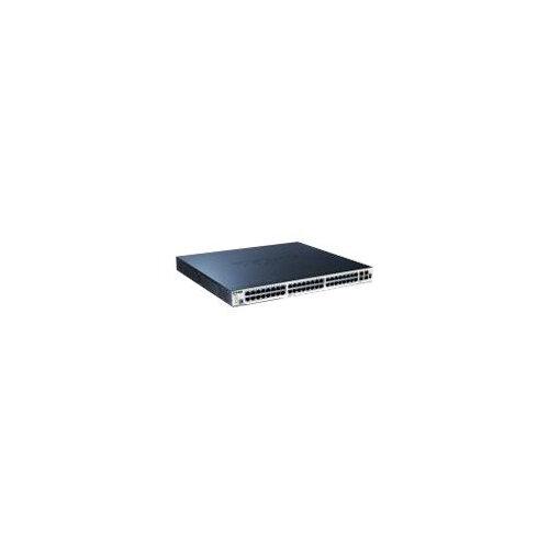 D-Link xStack DGS-3120-48PC - Switch - Managed - 44 x 10/100/1000 + 4 x combo SFP - desktop - PoE