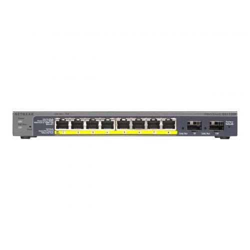 NETGEAR GS110TP - Switch - Managed - 8 x 10/100/1000 (PoE) + 2 x SFP - desktop - PoE (46 W)