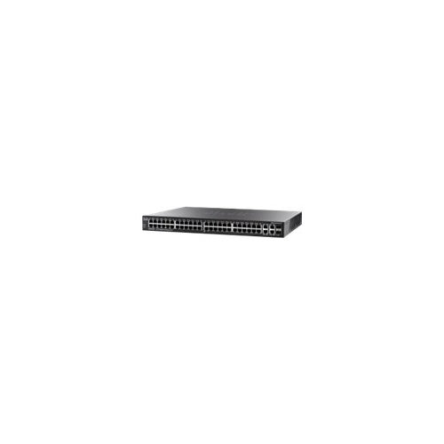 Cisco Small Business SG300-52MP - Switch - L3 - Managed - 50 x 10/100/1000 (PoE+) + 2 x combo Gigabit SFP - desktop, rack-mountable - PoE+ (740 W)
