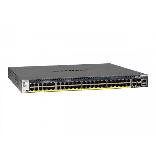 NETGEAR M4300-52G-PoE+ - Switch - L3 - Managed - 2 x 10/100/1000/10000 + 2 x 10 Gigabit SFP+ + 48 x 10/100/1000 (PoE+) - rack-mountable - PoE+ (480 W)