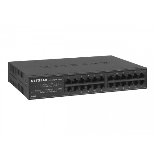 NETGEAR SOHO Gigabit Ethernet Switch GS324 - Switch - unmanaged - 24 x 10/100/1000 - desktop, wall-mountable