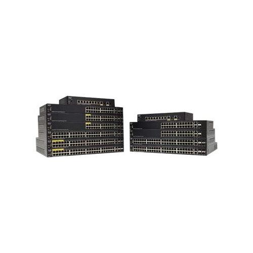 Cisco 250 Series SG250X-48P - Switch - L3 - smart - 48 x 10/100/1000 (PoE+) + 2 x 10 Gigabit Ethernet + 2 x 10 Gigabit SFP+ - rack-mountable - PoE+ (382 W)