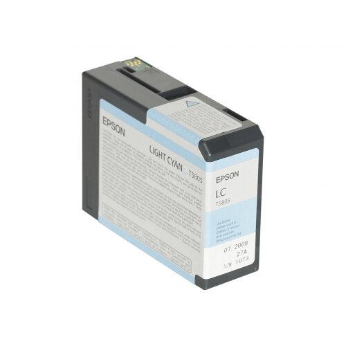 Epson T5805 - 80 ml - light cyan - original - ink cartridge - for Stylus Pro 3800, Pro 3880