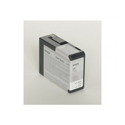 Epson T5807 - 80 ml - light black - original - ink cartridge - for Stylus Pro 3800, Pro 3880