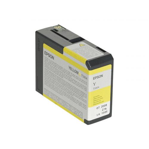 Epson T5804 - 80 ml - yellow - original - ink cartridge - for Stylus Pro 3800, Pro 3880