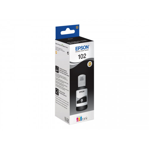 Epson 102 - 127 ml - black - original - ink tank - for EcoTank ET-2750, ET-3700, ET-3750, ET-4750; Expression ET-2700, ET-2750, ET-3700
