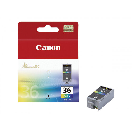 Canon CLI-36 Color - Colour (cyan, magenta, yellow, black) - original - ink cartridge - for PIXMA iP100, iP100 Bundle, iP100 with battery, iP100wb, iP110, mini260, mini320