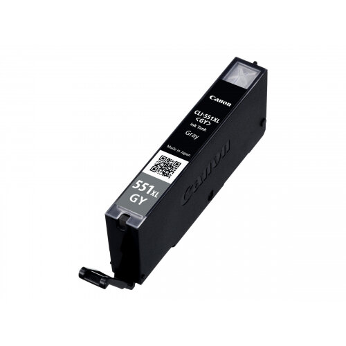 Canon CLI-551GY XL - High Yield - grey - original - ink tank - for PIXMA iP8750, iX6850, MG5655, MG6350, MG6450, MG7150, MG7550