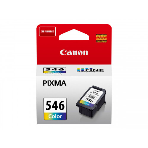 Canon CL-546 - 8 ml - colour (cyan, magenta, yellow) - original - ink cartridge - for PIXMA MG2550, MG2555, MG2950, MG3050, MG3051, MG3052, MG3053, TS205, TS305, TS3150, TS3151