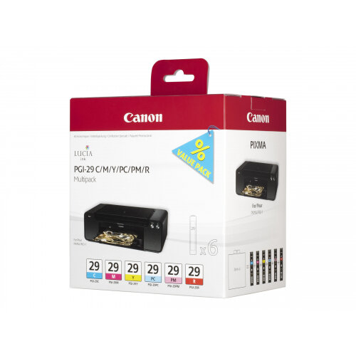 Canon PGI-29 CMY/PC/PM/R Multipack - Yellow, cyan, magenta, red, photo cyan, photo magenta - original - ink tank - for PIXMA PRO-1