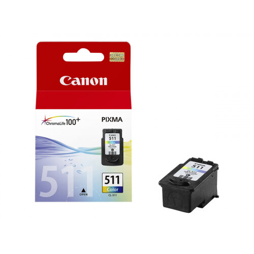 Canon CL-511 - Colour (cyan, magenta, yellow) - original - ink cartridge - for PIXMA MP230, MP237, MP252, MP258, MP272, MP280, MP282, MP495, MP499, MX360, MX410, MX420