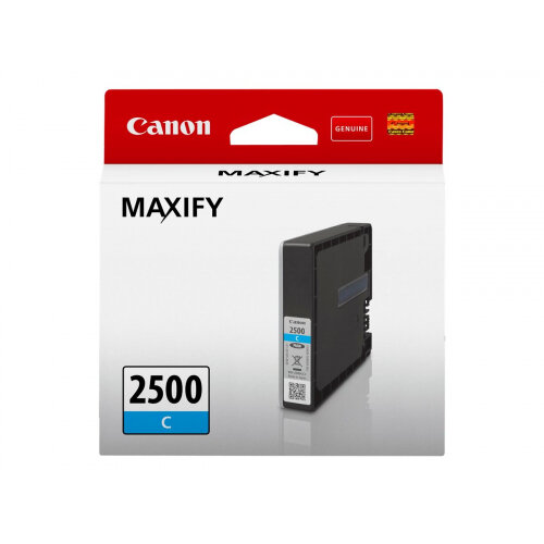 Canon PGI-2500 C - 9.6 ml - cyan - original - ink tank - for MAXIFY iB4050, iB4150, MB5050, MB5150, MB5155, MB5350, MB5450, MB5455