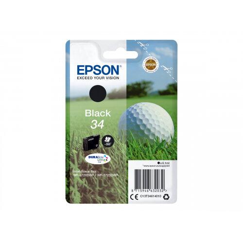 Epson 34 - 6.1 ml - black - original - ink cartridge - for WorkForce Pro WF-3720, WF-3720DWF, WF-3725DWF