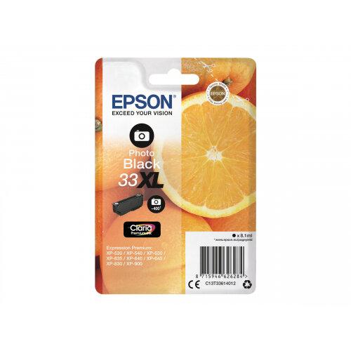 Epson 33XL - 8.1 ml - XL - photo black - original - blister - ink cartridge - for Expression Home XP-635, 830; Expression Premium XP-530, 540, 630, 635, 640, 645, 830, 900