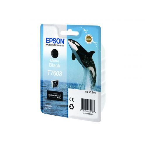 Epson T7608 - 26 ml - matte black - original - blister - ink cartridge - for SureColor P600, SC-P600