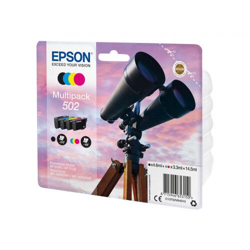 Epson 502 Multipack - 4-pack - black, yellow, cyan, magenta - original - blister - ink cartridge - for Expression Home XP-5100, XP-5105; WorkForce WF-2860, WF-2860DWF, WF-2865DWF