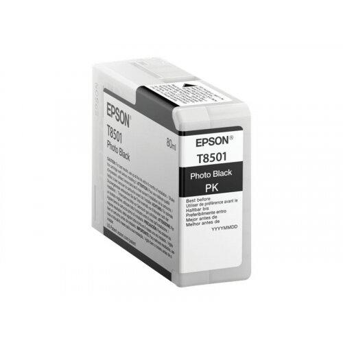 Epson T8501 - 80 ml - photo black - original - ink cartridge - for SureColor P800, P800 Designer Edition, SC-P800