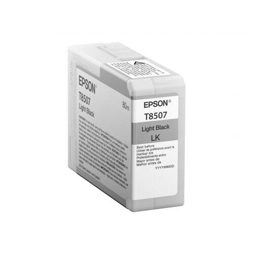 Epson T8507 - 80 ml - light black - original - ink cartridge - for SureColor P800, P800 Designer Edition, SC-P800