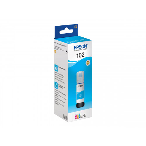 Epson 102 - 70 ml - cyan - original - ink tank - for EcoTank ET-2750, ET-3700, ET-3750, ET-4750; Expression ET-2700, ET-2750, ET-3700