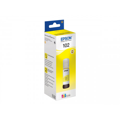 Epson 102 - 70 ml - yellow - original - ink tank - for EcoTank ET-2750, ET-3700, ET-3750, ET-4750; Expression ET-2700, ET-2750, ET-3700