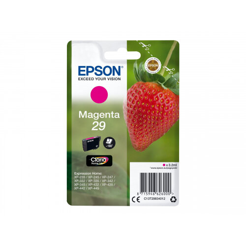 Epson 29 (C13T29834012) - 3.2 ml - magenta - original - blister - ink cartridge - for Expression Home XP-235, 245, 247, 332, 335, 342, 345, 432, 435, 442, 445, 455