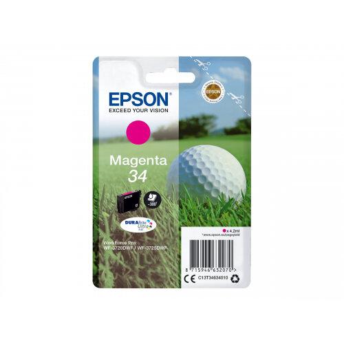 Epson 34 - 4.2 ml - magenta - original - ink cartridge - for WorkForce Pro WF-3720, WF-3720DWF, WF-3725DWF