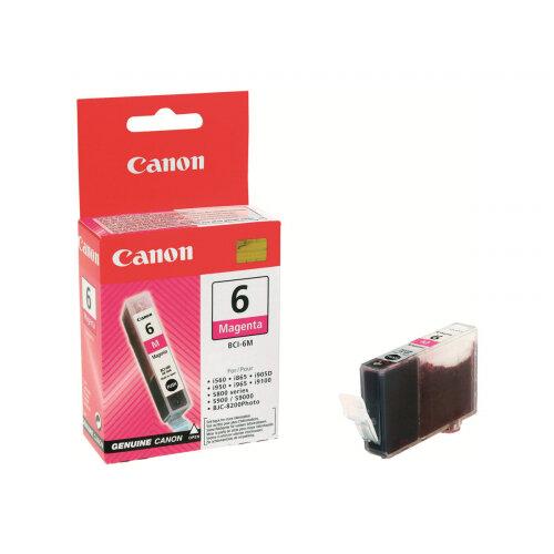 Canon BCI-6M - Magenta - original - ink tank - for i96X, 990, 99XX; PIXMA IP3000, IP4000, iP5000, iP6000, iP8500, MP750, MP760, MP780; S830