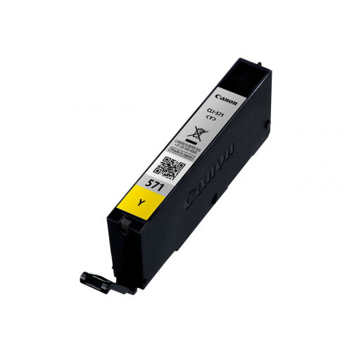 Canon CLI-571Y - 7 ml - yellow - original - ink tank - for PIXMA TS5051, TS5053, TS5055, TS6050, TS6051, TS6052, TS8051, TS8052, TS9050, TS9055