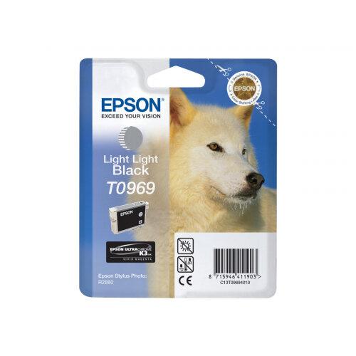 Epson T0969 - 11.4 ml - light light black - original - blister - ink cartridge - for Stylus Photo R2880