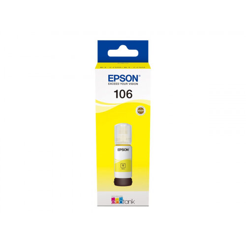 Epson 106 - 70 ml - yellow - original - ink tank - for EcoTank ET-7700, ET-7750; Expression Premium ET-7700, ET-7750