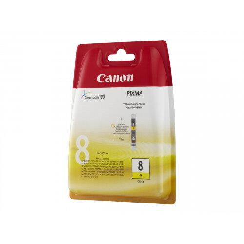 Canon CLI-8Y - Yellow - original - ink tank - for PIXMA iP3500, iP4500, iP5300, MP510, MP520, MP610, MP960, MP970, MX700, MX850, Pro9000