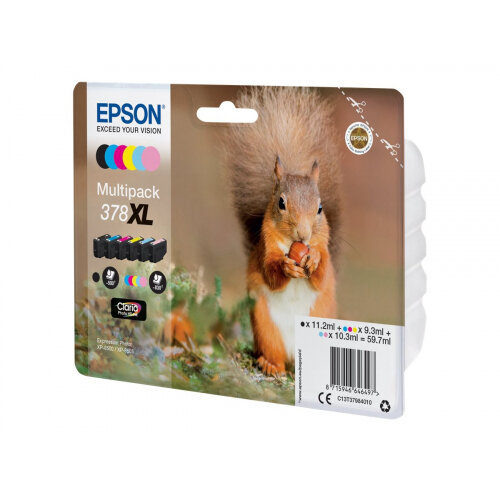 Epson 378XL Multipack - 6-pack - 59.7 ml - XL - black, yellow, cyan, magenta, light magenta, light cyan - original - blister with RF/acoustic alarm - ink cartridge - for Expression Photo XP-8500 Small-in-One