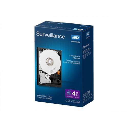 """WD Surveillance WDBGKN0040HNC - Hard drive - 4 TB - internal - 3.5"""" - SATA 6Gb/s - buffer: 64 MB"""