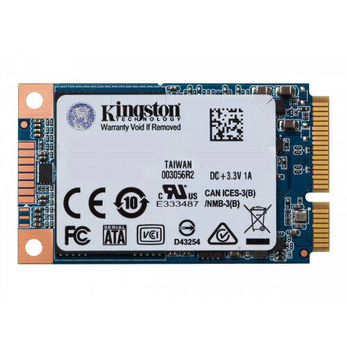 Kingston SSDNow UV500 - Solid state drive - encrypted - 120 GB - internal - mSATA - SATA 6Gb/s - 256-bit AES - Self-Encrypting Drive (SED), TCG Opal Encryption 2.0