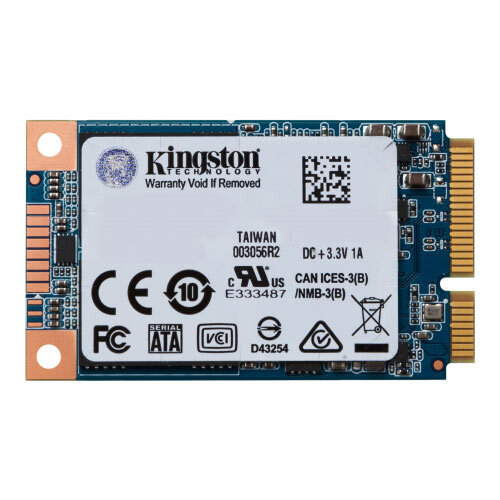 Kingston SSDNow UV500 - Solid state drive - encrypted - 240 GB - internal - mSATA - SATA 6Gb/s - 256-bit AES - Self-Encrypting Drive (SED), TCG Opal Encryption 2.0