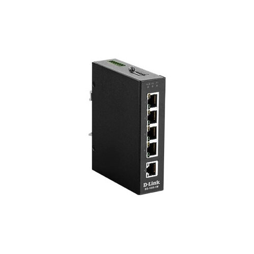 D-Link DIS 100G-5W - Switch - unmanaged - 5 x 10/100/1000 - DIN rail mountable, wall-mountable