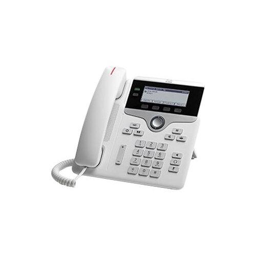 Cisco IP Phone 7821 - VoIP phone - SIP, SRTP - 2 lines - white