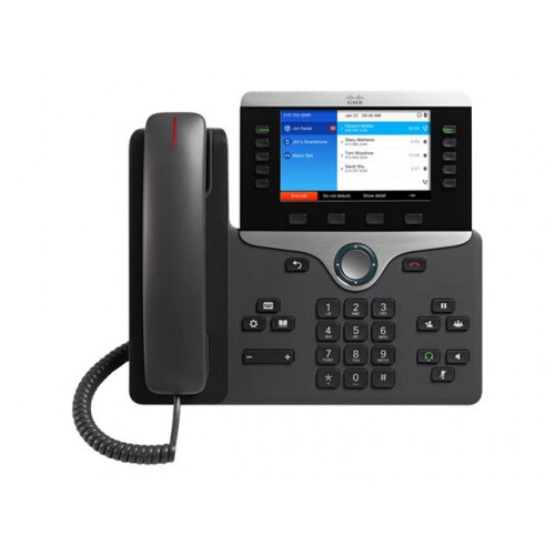 Cisco IP Phone 8851 - VoIP phone - SIP, RTCP, RTP, SRTP, SDP - 5 lines - charcoal